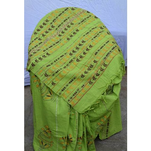 Pure Cotton Khes Saree with Kantha Embriodery 8