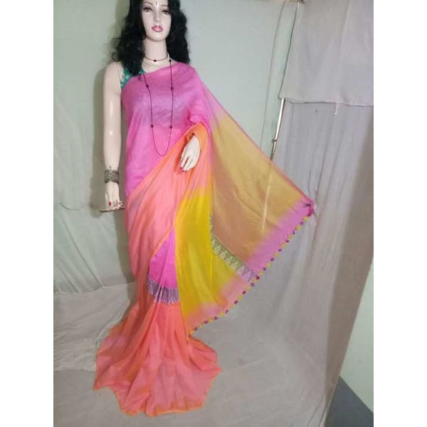 Madhyamoni Khadi Cotton Sarees Directly from Weavers 10
