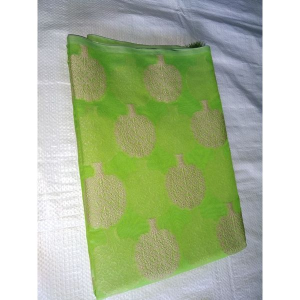 Banarsi Art Silk Saree with Tree Weave Design 14
