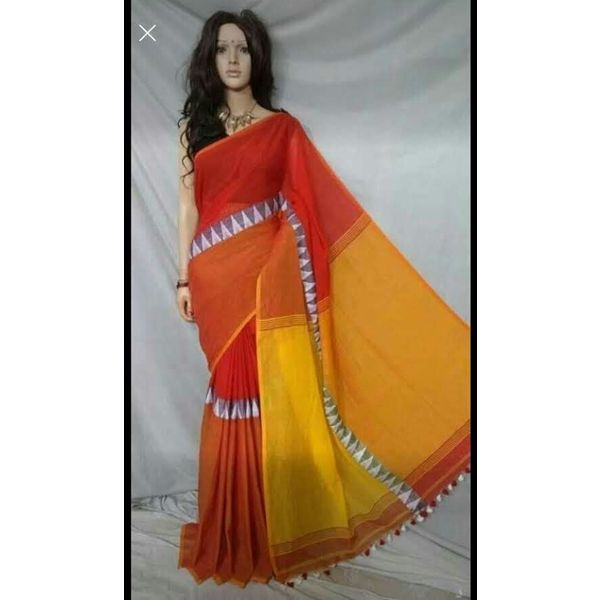 Madhyamoni Khadi Cotton Sarees Directly from Weavers 6