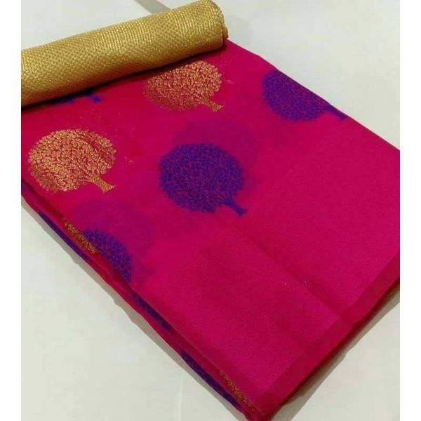Banarsi Art Silk Saree with Tree Weave Design 2