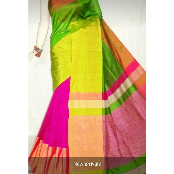 Mahapar Cotton Silk Saree 6.3 metre length with Blouse Piece 20