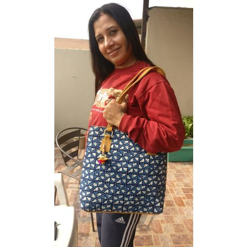 Mulmul Large Shopping Carry Party Bag with Long Strap 7