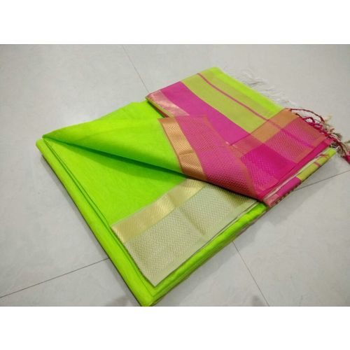 Pure Handloom Maheshwari Saree Directly from Weaver 5.5 Metre with 80cm CONTRAST Blouse Piece in running 2