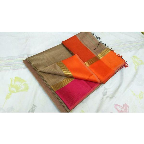 Pure Maheswari Cotton Silk Saree 10