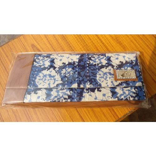 Indigo blue Mulmul Bags with Kantha Stitch Wallets with Chain Hanging 7