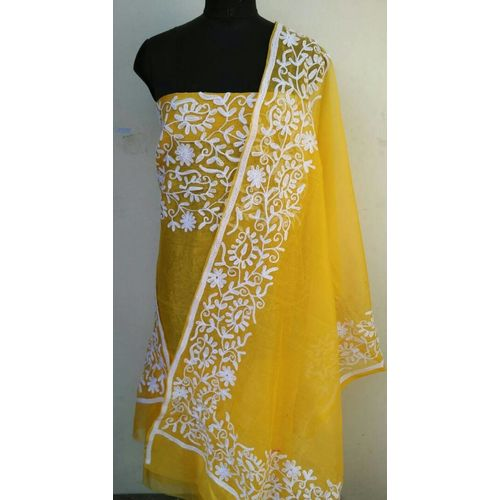 Supernet Kota Suit with Aari Work 18