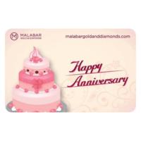 Malabar Gold and Diamonds Happy Anniversary Gift Voucher, 5000