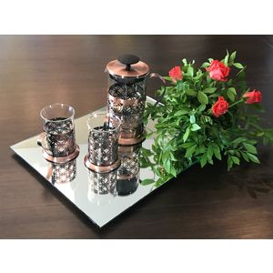Gift hamper With Copper French Press And Tea Set
