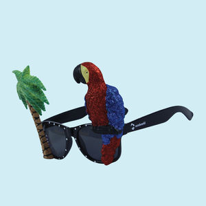 Fancy Parrot Party Sun Glasses for Boy's and Girl's, plastic, 25   3   26 cm,  black