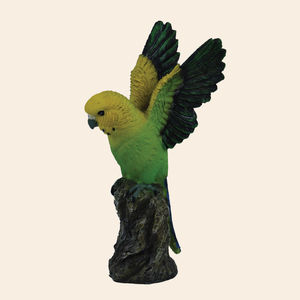 Unique Ceramic Flying Parrot For Home Decor, polyresign, 9.8   6.5   18 cm,  lawn green