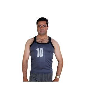 Nylon Sando for Men, l,  grey