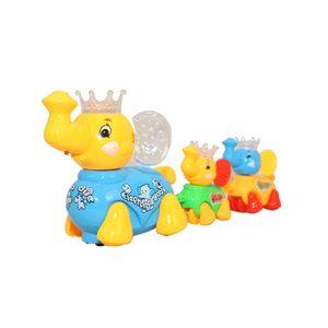 Fab5 Cute Walking Elephant Set( Yellow & Blue, Pack Of 1), yellow