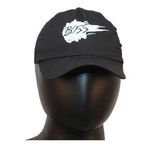 Fab5 Printed Boss Slogan Velcro Cap (Black, Pack Of 1), black