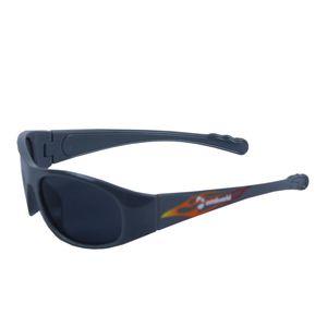 Full frame oval sunglasses for kids, plastic, 14   3   6.5 cm,  black