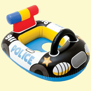 Baby Float Swim Tube Police Design, 71   57 cm,  black, plastic