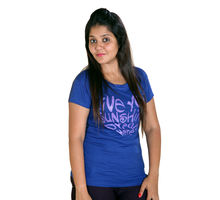 Dark Blue T-shirt for Women,  dark blue