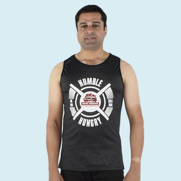Ultra Soft And Smooth Sleeveless Black T - Shirt For Men s