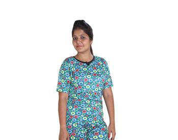 Green Nylon T-shirt for Women
