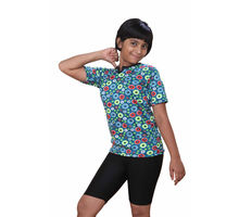 Sky Blue T-shirt With Slack for Girls, m