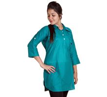 Plain Kurti for Women, xxl,  green