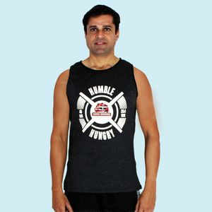 Ultra Soft And Smooth Sleeveless Black T - Shirt For Men's,  black, l, 90  polyester and 10  spandex