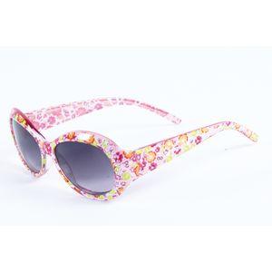 Floral design sunglasses for kids girls, plastic, 13.5   3   5 cm,  white