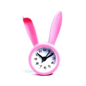 Decorative Rabbit Look Table Clock,  pink, 5.5   2.2   9 cm, plastic