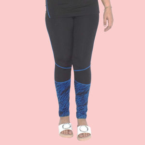 Girls Polyester Sports Swimming Compression Pant/Legging/Full Tights, 90  polyester and 10  spandex, xl,  blue