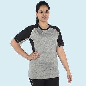 Premium Quality Knitted Light Weight Sports T-Shirt, 90  polyester and 10  spandex,  grey, xxl