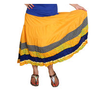 Cotton Skirt for Women,  yellow