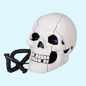 Skull Telephone Handset, plastic, 15   10   10 cm,  white