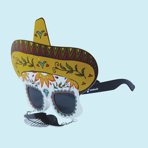 Fancy Mexico Party Sun Glasses for Boy's and Girl's,  white, 24   3   29 cm, plastic