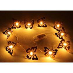 Decorative Butterfly Shape Fluorescent LED Light,  copper, l 165cm, metal