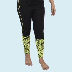 Girls Polyester Sports Swimming Compression Pant/Legging/Full Tights, 90  polyester and 10  spandex, xxxl,  green