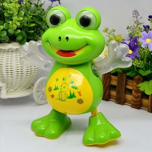 Dancing Frog with Music Flashing Lights and Real Dancing Action Toys Robot Doll Toys Universal Interactive Toys, plastic, 19.5   16   12.5 cm,  green