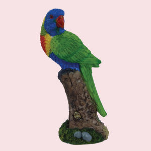 Unique Ceramic Macaw Parrot For Home Decor, polyresign, 8.5   5.8   17 cm,  blue