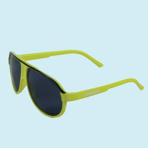 Neon Green Fancy Sunglasses For Kids,  yellow, 13   3   5 cm, plastic