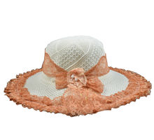 Orange & White Hat for Women