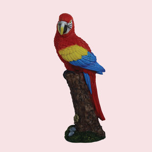 Unique Ceramic Parrot For Home Decor, polyresign, 9   8   23.8 cm,  red