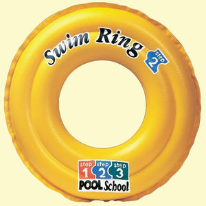 Deluxe Size Swimming pool tube, plastic, 51   51 cm,  yellow