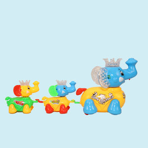 Battery Operated Cute And Clever Elephant Train, plastic, 26.5   4   25.5 cm,  yellow