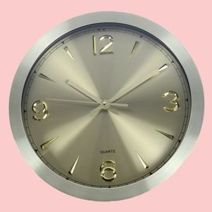 Premium Analog Wall Clock For Home And Office, metal, 30   30   4.2 cm,  gold