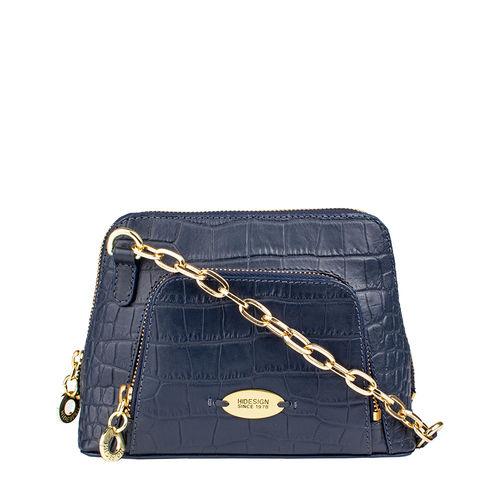 Mb Ginny Women s Handbag, Croco Melbourne Ranch,  midnight blue
