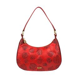 Keaton 02 Women's Handbag E I Flower Embossed,  dark red