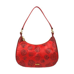 Keaton 02 Women's Handbag E I Flower Embossed,  dark red