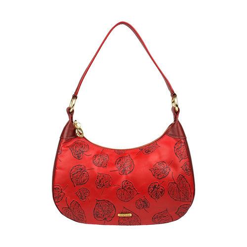 Keaton 02 Women s Handbag E I Flower Embossed,  dark red