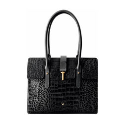Mocha 02 Women's Handbag, Croco,  black