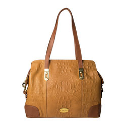 Harajuku 01 Women's Handbag, Cow Baby Croco Ranch,  tan