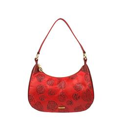 Keaton 02 Women's Handbag, E. I. Leaf Emboss Melbourne Ranch,  dark red